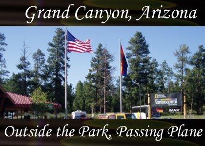 SoundScenes - Atmo-Arizona - Grand Canyon, Outside Park, Passing Plane