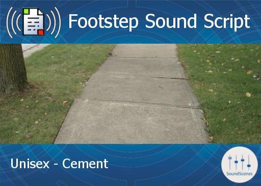 footstep script – unisex – cement