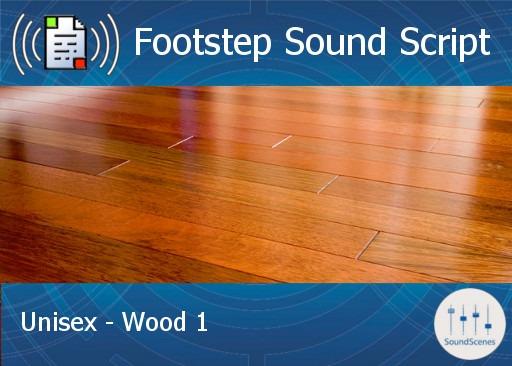 footstep script – unisex – wood 1